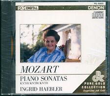 Audiophile Denon Gold CD Ingrid Haebler - Mozart Piano Sonatas SEALED