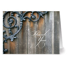 24 Thank You Note Cards - Thankful With Style - Off White Ivory Envs