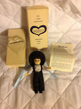 Lancaster County Way Amish Boy 5 Inch Doll in Original Box With Heart Stand
