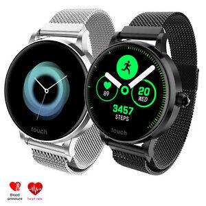 Women Ladies Smart Watch Bracelet Heart Rate Monitor Stainless Steel Wristwatch