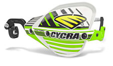 """Cycra Probend CRM Factory Handguards 7/8"""" Bars White / Green Shields Pair NEW"""