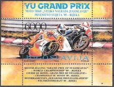 Yugoslavia 1989 Motorcycle Grand Prix Souvenir Sheet MNH (SC# 1963)