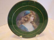 Victorian art reverse painted glass print metal 1900-1949 Litho 7.5