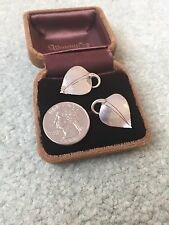 Vintage AM Anton Michelsen Sterling Silver Denmark Leaf Clip Earrings - 6g