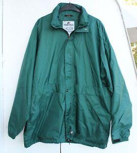 K Way Plus retro Regenjacke Fitness Jacke Größe XXL vintage Nylon grün