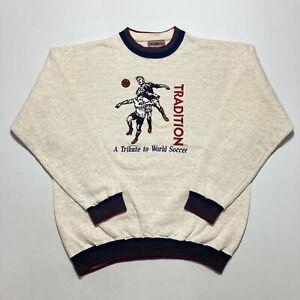Rare Vintage A Tribute To World Soccer Sweatshirt Heavyweight Football Size XL