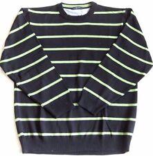 CASA MODA Sports sportiver Pullover Streifen rundhals Pulli navy/hellgrün XL 54
