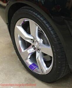 6x Wheel Rim Stripes Hash Marks Fits CAMARO SS RS Racing Redline Decal Sticker