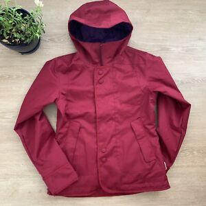 BURTON Waterproof Ski Snowboard Winter Snow Jacket Size M Red/Purple