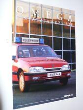 Prospekt Opel Omega A Einsatzfahrzeuge - Feuerwehr/Notarzt, 2.1992, 8 Seiten