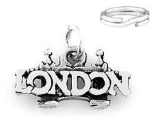 SILVER LONDON BRIDGE/CENTRAL LONDON CHARM W/SPLIT RING