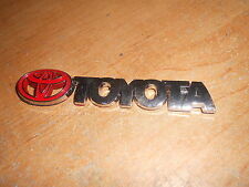 """TOYOTA COROLLA CELICA FRONTIER CAMRY COROLLA NEW CHROME / RED EMBLEM 4"""" WIDE"""