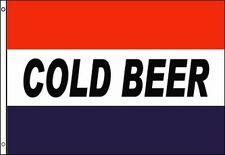 Cold Beer Flag Banner 3x5 Liquor Package Store Bar Business Advertising Sign