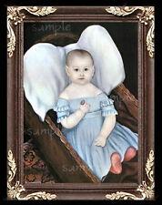Folk Art Baby  Miniature Dollhouse Doll House Picture