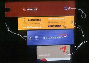 ASIANA Lufthansa Qantas British Airways Airlines Tag / Sticker / Labels  (# 4)