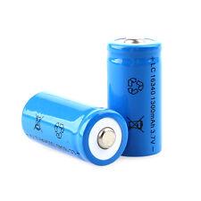 1300mAh 3.7V 16340 CR123A Rechargeable Li-ion Battery Blue