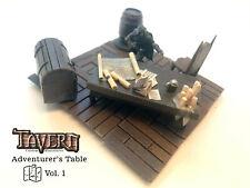 Adventurer Table +Chair Painted D&D Pathfinder 100% Handmade Terrain Tavern Mini