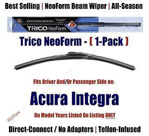 Super Premium NeoForm Wiper Blade (Qty 1) fits - 1986-1989 Acura Integra - 16180