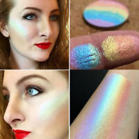 Rainbow Highlighter Shimmer Eyeshadow Palette Blusher Contour Powder Makeup QZ