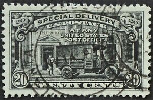 U.S. Used #E19 20c Special Delivery, Superb Jumbo. Lovely CDS Cancel. A Gem!