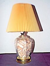 """LAMP A VINTAGE 17""""H GLASS GINGER JAR FILLED WITH ROLLED SEASHELL LAMP w/SHADE"""