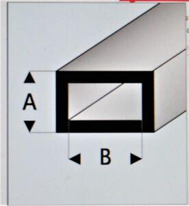 """MAQUETT 421-55/3 White Styrene rectangular tube 12x6mm / 0.472x0.236"""" x 330mm 5"""