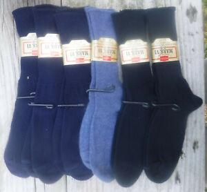 6 Pair Men's 8-9.5 HANES Dress Socks USA Vintage Assorted Colors Orlon Stretch