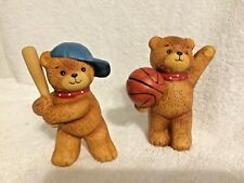 Rigglets Sports Bears Baseball Basketball 1979 Enesco Imports Lucy Riggs