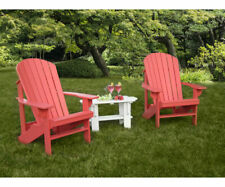 Amish Made Treated Pine Outdoor Adirondack Chair with Ottoman Stained / Painted!