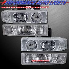 1995-2005 GMC SAFARI VAN EURO CLEAR 1PCS HEADLIGHTS + PARK SIGNAL BUMPER LIGHTS