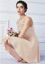 Bnwt🌹Lipsy🌹Size 8 Nude Embellished Chiffon Skater Dress Evening Cocktail New.