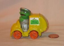 Oscar The Grouch Drivng A Diecast Trash Delivery Truck: By Playskool 1982