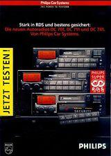 Philips dc 701 711 741 radio del coche-folleto 90er brochure
