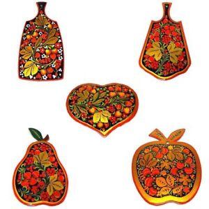 Cutting Board Russian Khokhloma Wooden Hand-painted Handmade Kitchen New 1 pc