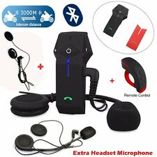 COLO-RC Motorcycle Bluetooth 1000m Intercom Headset Remote Control+2 Earpieces