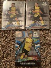 2017/18 Topps Chrome UEFA Champions League Christian Pulisic Dortmund Lot (3)