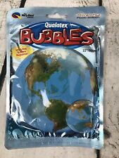 "World Globe Balloon Earth Planet Qualatex 22"" Bubbles Stretchy Plastic Helium"
