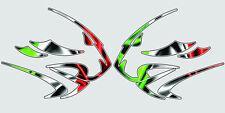 APRILIA Leones Cabeza Motocicleta Gráficos Pegatinas Calcomanías X 2PCS gran estilo 3
