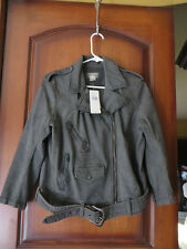 Ralph Lauren Denim & Supply Black Denim Motorcycle Cut Jacket SZ Large NWT