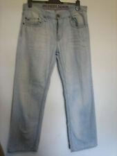 RR45) Herren blau Tommy Hilfiger (Woody) Straight Leg Jeans Taille 34 Bein 32