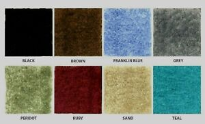 CUT-TO-FIT BATHROOM CARPET--RUGS--COMES IN NAVY ONLY--SIZE = 5 X 6--LOW PRICE  U