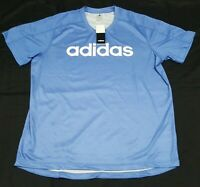 Adidas Mens sports training shirt DZ8471 light blue