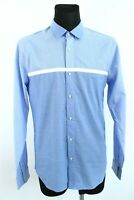 SCOTCH&SODA BNWT Sky Blue Cotton Button-Up Collared Man Shirt Size 54 EU XL