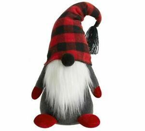 Pottery Barn Rare Plush Holiday Gnome Medium Size - NEW - Christmas Decor HTF