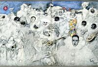 Weiße Redoute XL Kunstdruck 1912 von Knut Hansen Kopenhagen Maskenball Karneval