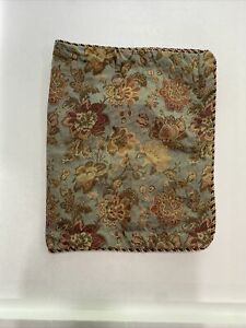 Biltmore For Your Home Blue BURGUNDY Gold Paisley Pillow Sham 20 X 36