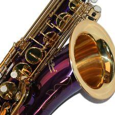 K Glaser Tenor Saxophon in Show Violett + Gold mit Koffer, Mundstück + Blättchen