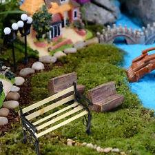 1:12 Banc En Bois Fauteuil Métal Maison de Poupée Miniature Meubles De Jardin