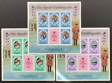 Ghana. The Royal Wedding 1981 Charles & Diana Souvenir Sheets (RL27)