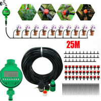 AUTOMATIC IRRIGATION WATERING DIY MICRO GARDEN PLANT GREENHOUSE WATER SYSTEM 25m